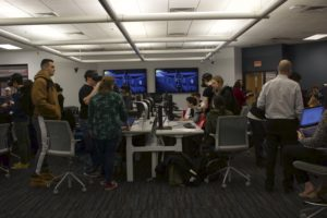 Students work in groups to reimagine a scene from Citizen Kane (1941) using virtual reality