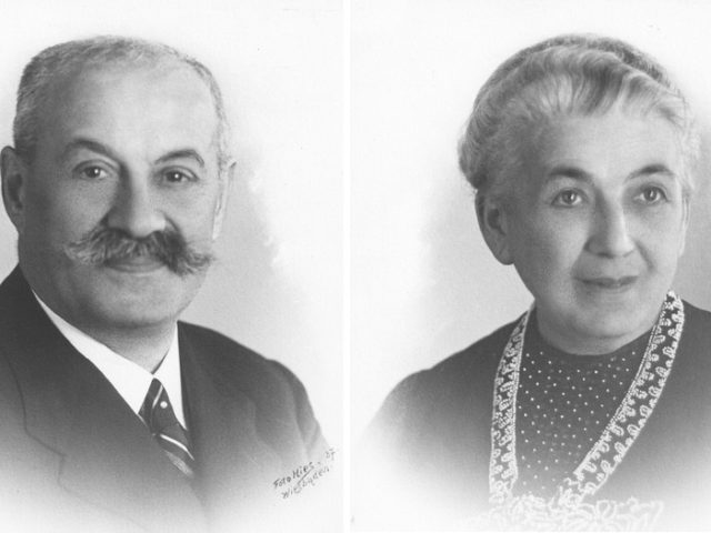 Hermann and Amalie Kohn, left to right black and white portraits